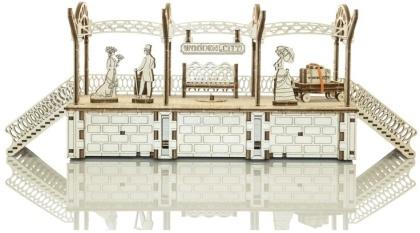 Railway station - Mechanical 3D wooden puzzle - 175 parts