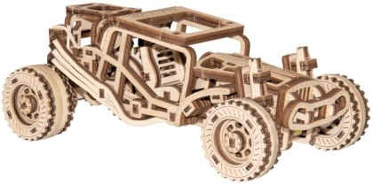 Buggy - Mechanical 3D wooden puzzle - 137 parts