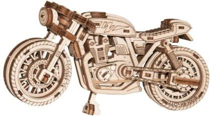 Café racer - Mechanical 3D wooden puzzle - 85 parts