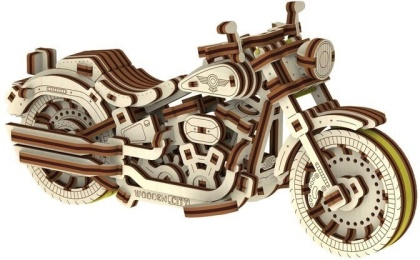 Cruiser V-Twin - Mechanical 3D wooden puzzle - 168 parts