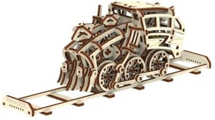 Dream Express with rails - Mechanical 3D wooden puzzle - 220 parts