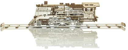 Wooden Express with rails - Mechanical 3D wooden puzzle - 400 parts