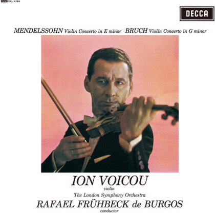 Rafael Frühbeck de Burgos, Felix Mendelssohn-Bartholdy (1809-1847), Max Bruch (1838-1920), Ion Voicou & London Symphony Orchestra - Violin Concerto In E Minor & G Minor (LP)