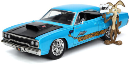 1:24 1970 Plymouth Roadrunner W/ Wile E Coyote Fig