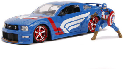 1:24 2006 Ford Mustang Gt W/Captain America Figure