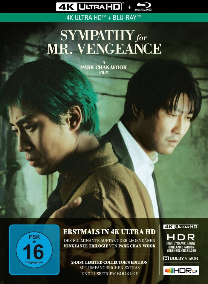 Sympathy for Mr. Vengeance (2002) (Limited Collector's Edition, Mediabook, 4K Ultra HD + Blu-ray)