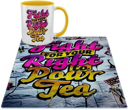 Fight for Your Right to Pour Tea - Mug & Chopping Board Set