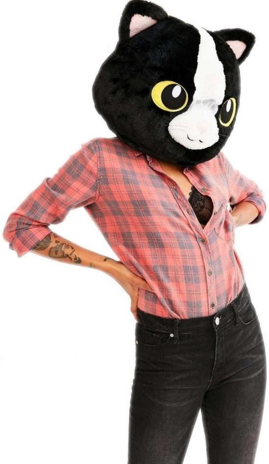 Kigurumi - Black Cat - Big Fat Head