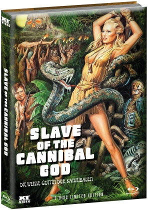 Slave of the Cannibal God - Die weisse Göttin der Kannibalen (1978) (Wattiert, Limited Edition, Mediabook, Blu-ray + DVD)
