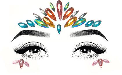 Avri face jewels sticker