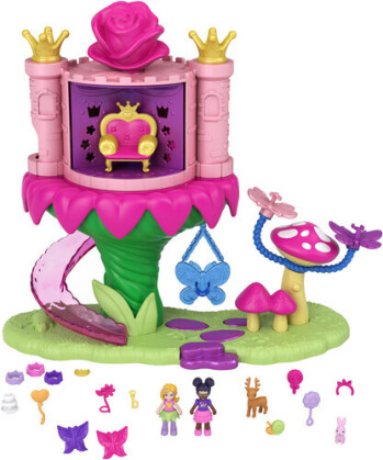 Polly Pocket - Fantasy Fairy Princess Dispensing Castle Ride