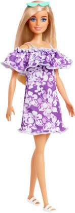 Barbie - Loves The Ocean Purple Floral Dress With Ruffle