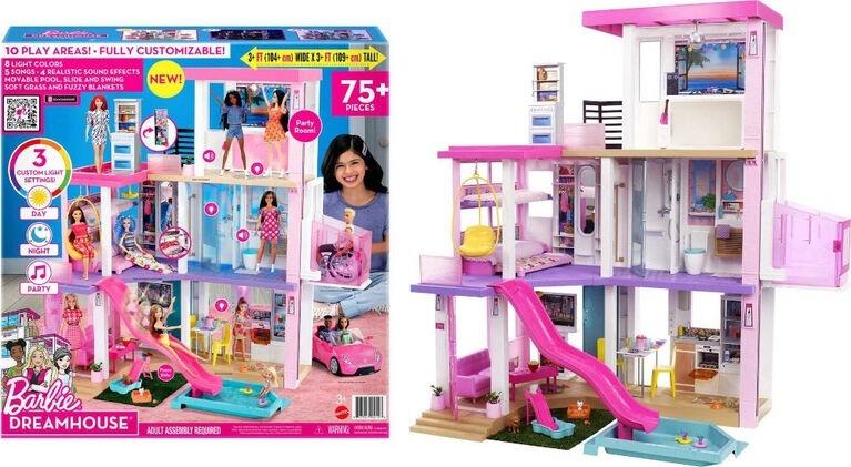 Barbie Dream House - Dollhouse with Pool, Slide, Elevator, Lights & Sounds