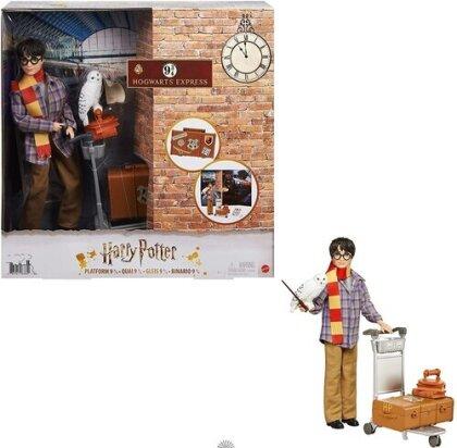 Harry Potter Gleis 9 3/4 Spielset mit Harry Potter Puppe & Hedwig Figur