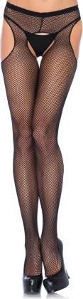 Fishnet Suspender Pantyhose - One Size - Grösse Onesize