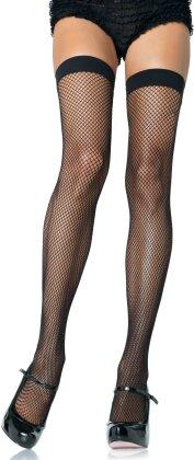 Nylon Fishnet Thigh Highs - One Size - Taglia Onesize