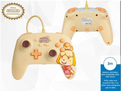 Switch Controller Isabelle offiziell lizenziert POWER A - Animal Crossing