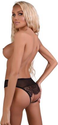 Nicolette Crotchless Panty - L/XL