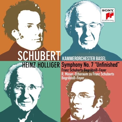 """Heinz Holliger, Kammerorchester Basel & Franz Schubert (1797-1828) - Symphony No. 7 """"Unfinished"""" / Deutsche Tänze / Nonett"""