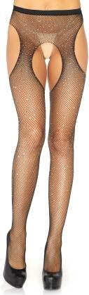Fishnet Tights With Accents - One Size - Taglia Onesize