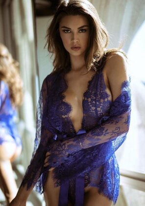 Floral lace teddy & robe