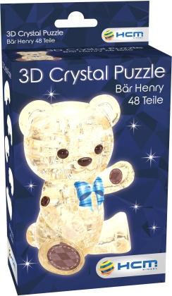 Bär Henry Hellbraun - 3D Crystal Puzzle 48 Teile
