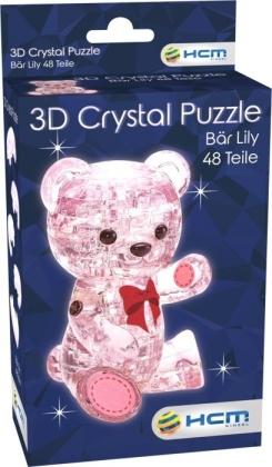 Bär Lily Rosa - 3D Crystal Puzzle 48 Teile