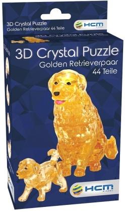 Golden Retrieverpaar - 3D Crystal Puzzle 44 Teile