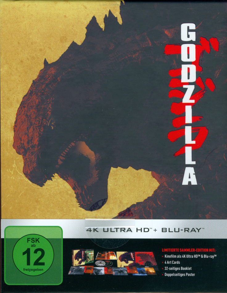 Godzilla (2014) (Schuber, Limited Collector's Edition, 4K Ultra HD + Blu-ray)