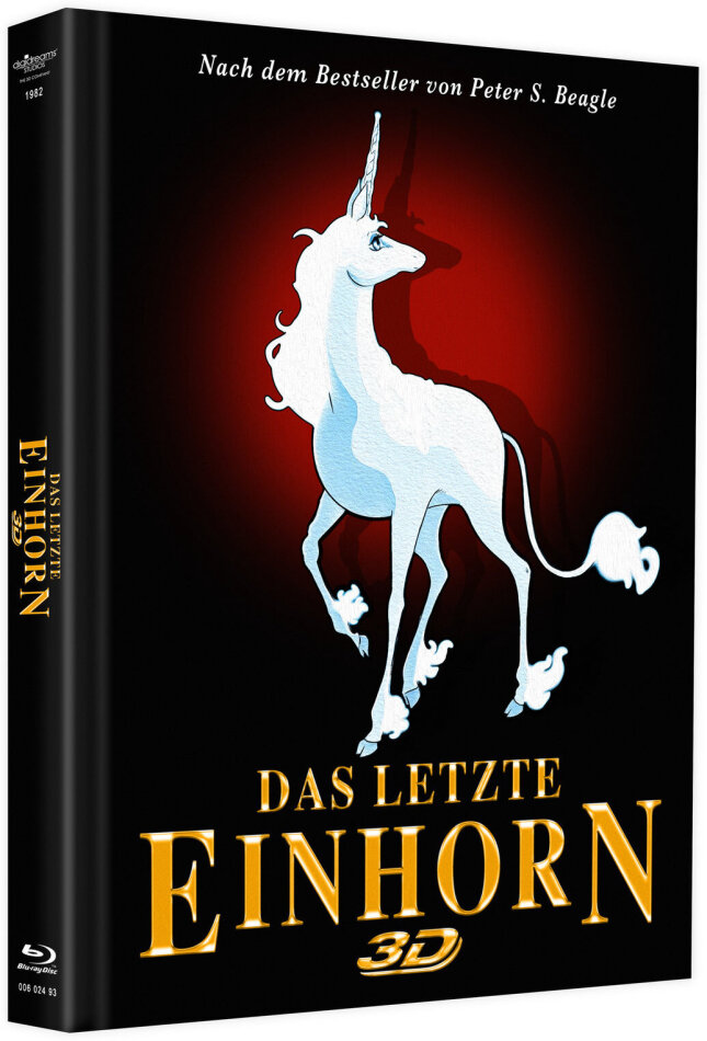 Das letzte Einhorn (1982) (Cover B, Limited Edition, Mediabook, Blu-ray 3D + DVD)