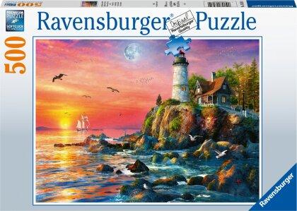 Leuchtturm am Abend (Puzzle)