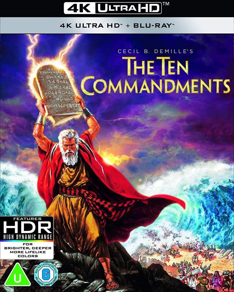 The Ten Commandments (1956) (4K Ultra HD + Blu-ray)