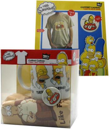 The Simpsons: Like Father Like Son - Mug + T-shirt + Badge - Grösse L