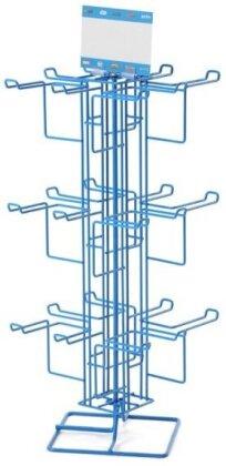 Présentoir Métal Porte-clefs - 4 faces de 6 crochets (24)
