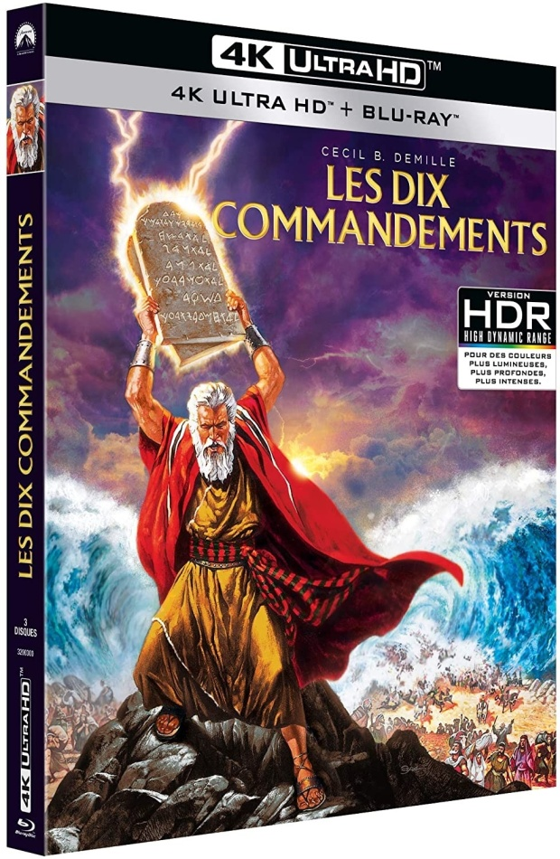 Les dix commandements (1956) (4K Ultra HD + 2 Blu-rays)