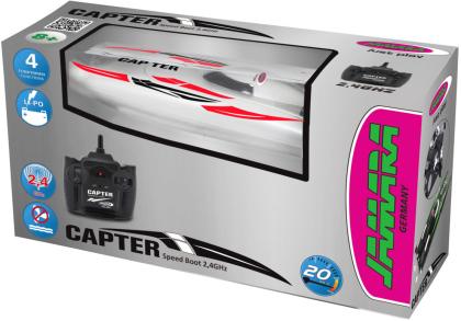 Jamara Capter Speedboot weiß/rot LiPo 7,4V 2,4GHz