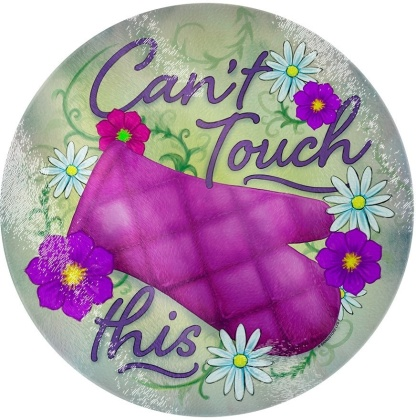 Can't Touch This - Glass Chopping Board
