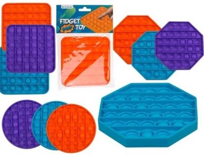 Fidget Pop Toy aus Silikon - Farbe & Form Assortiert, 1 Stück