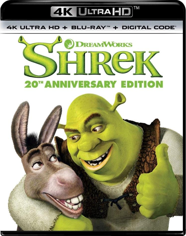 Shrek (2001) (Anniversary Edition, 4K Ultra HD + Blu-ray)