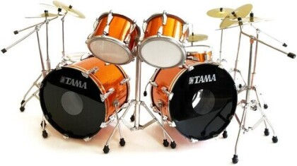 Lars Ulrich Metallica Tama Orange Mini Drum Kit