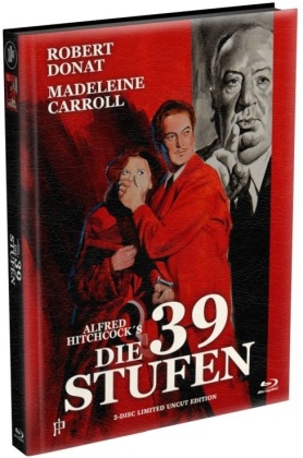 Die 39 Stufen (1935) (Wattiert, Limited Edition, Mediabook, Uncut, Blu-ray + DVD)