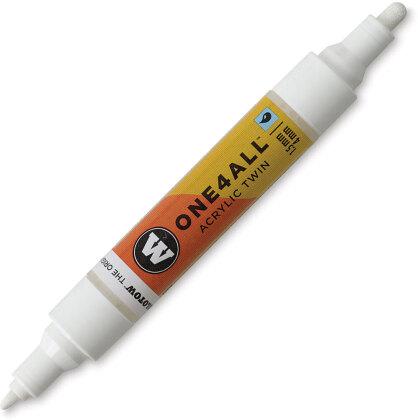 Marqueur pour Maquettes - One4All Twin - Acrylique Blanc - 1,5/4mm - #160 - 14 cm