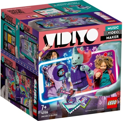 Unicorn DJ BeatBox - LEGO Vidiyo, 84 Teile,