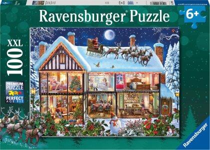 Weihnachten zu Hause - 100 XXL-Teile Puzzle für Kinder ab 6 Jahren