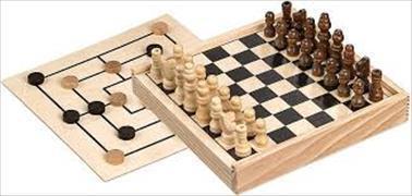 Schach-Mühle-Kombination - mini