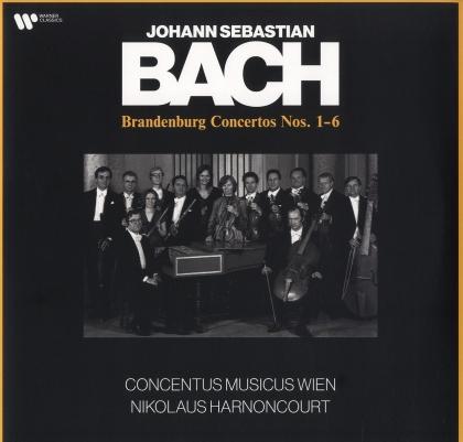 Nikolaus Harnoncourt, Johann Sebastian Bach (1685-1750) & Concentus Musicus Wien - Brandenburg Concertos Nos. 1-6 (2 LPs)