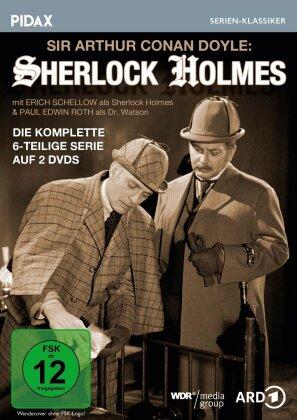 Sherlock Holmes - Die komplette 6-teilige Krimiserie (Pidax Serien-Klassiker, 2 DVDs)