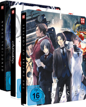 Project Itoh - Vol. 1-3 (Bundle, Gesamtausgabe, Steelbook, 3 Blu-rays + 3 DVDs)