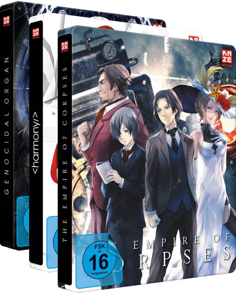 Project Itoh - Vol. 1-3 (Bundle, Gesamtausgabe, Steelbook, 3 Blu-rays + 3 DVDs)