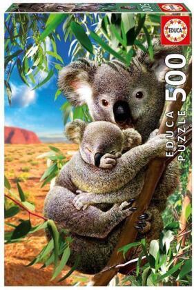Koala mit Koala-Baby - 500 Teile Puzzle
